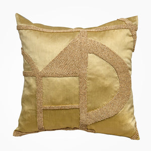 Hasani Beaded Cushion - Champagne