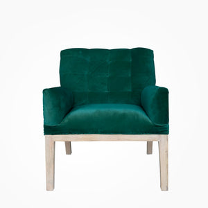 Henri Deconstructed Armchair - Emerald