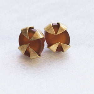Java Stud Earrings - Carnelian