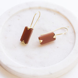 Java Drop Earrings - Carnelian