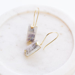 Java Drop Earrings - Moonstone