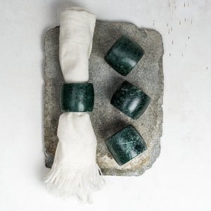 Makrana Napkin Rings (set of 4) - Green