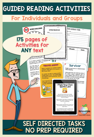 Guided Reading Activities: 125 Text Response Tasks, Games, Projects for ANY BOOK
