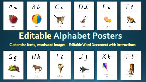 Alphabet Posters (Editable Version)