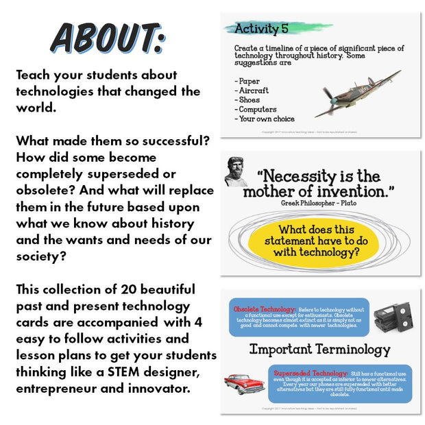 Past, Present and Future Technologies (STEM Activities)