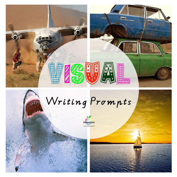 Full Year Visual Writing Prompts Bundle (Describing & Inferring Photos)