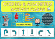 Coding And Algorithm Activity Cards Bundle Teaching Resource