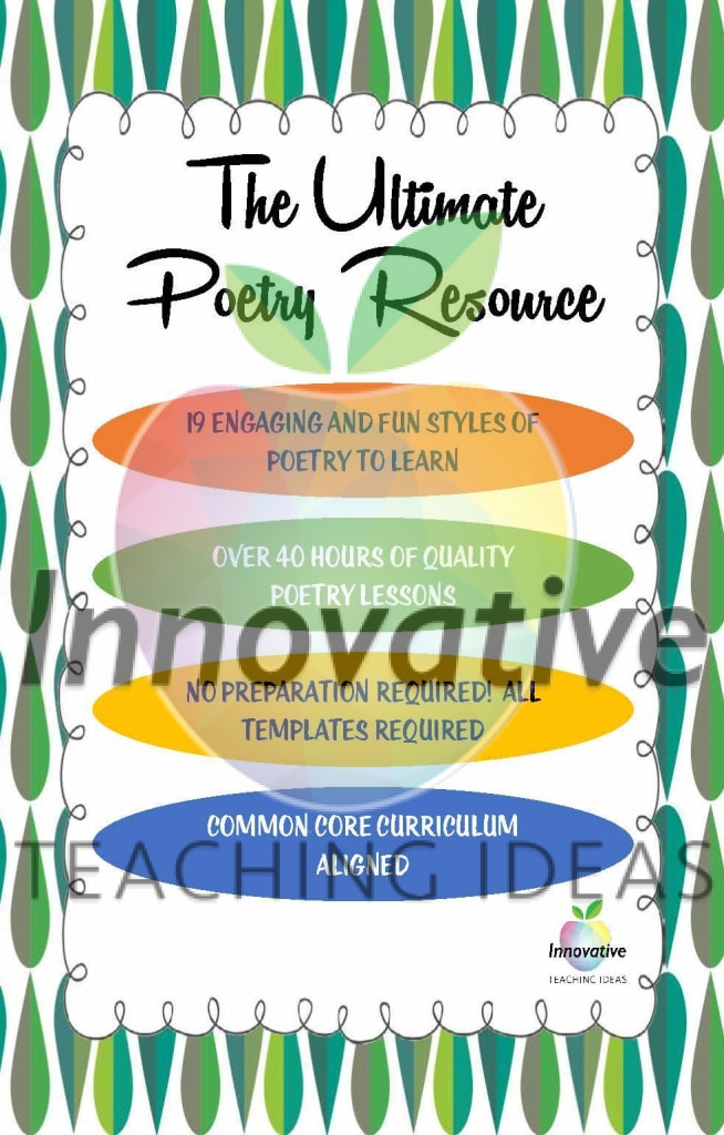 Huge Poetry Unit: 4 Full Weeks & 19 Styles Of Poetry No Prep Required!! Teaching Resource