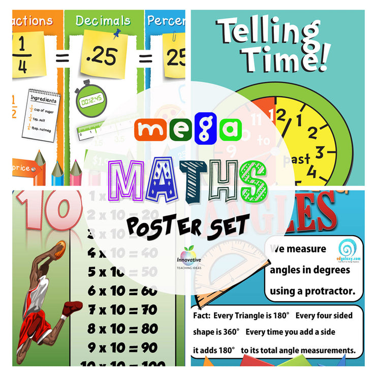 60 Essential Math Posters for Elementary & Primary Classrooms: 23 Vital Concepts