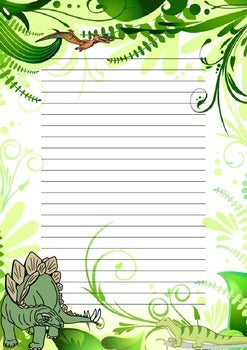 Free Dinosaur themed writing pack
