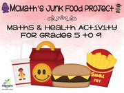 Math Fast Food Unit: (Nutritional Values, Food, Health, Statistics, Data) PBL