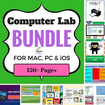 Computer Lab Bundle for Mac / PC & iOS (150 pages of Technology Resources)