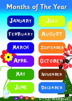 Months of the year Poster ( Freebie )