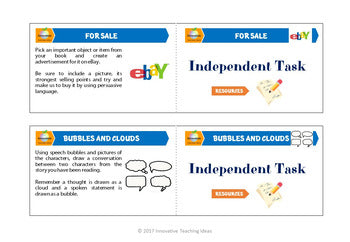 Self Directed Literacy Task Cards