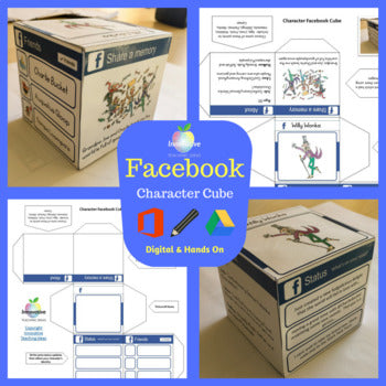 Facebook Character Cube Student Task - Great Versatile Activity ( Freebie )