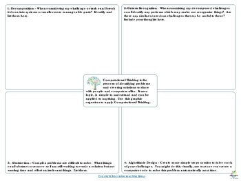 Computational Thinking Graphic Organizer ( Freebie )