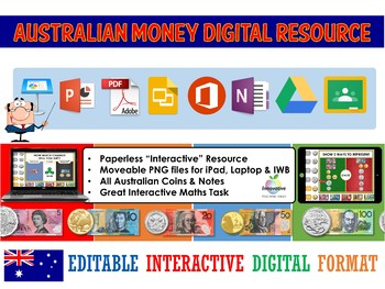 Australian Money Digital Interactive Resource (Google Classroom / iPad / IWB)