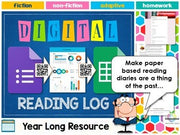 Year Long Digital Reading Log (Reading Diary / Journal)