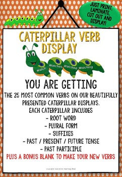 Caterpillar Verbs Game / Classroom Display