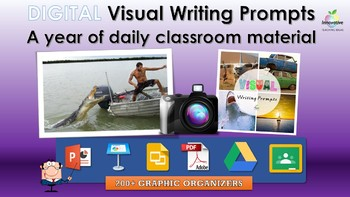 Google Classroom Writing Prompts ( 200+ Visual Cues & Graphic Organizers )