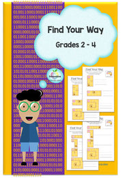 Find your way Algorithms, Coordinates (Coding and STEM for Juniors)
