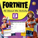 FORTNITE All About Me Editable Activity (Back to School)