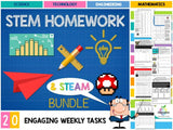 Stem Homework Tasks (20 Digital Technologies Design & Steam Activities) Teaching Resource