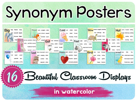 Synonym Posters - Wow Words Vocabulary Boosters Teaching Resource