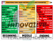 Time Transition Words For Narratives & Essays (Ccss Temporal Words) Teaching Resource