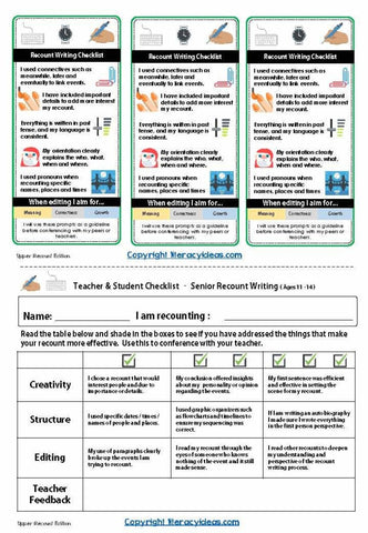 Writing Checklists For Students And Teachers (Growing Bundle) Teaching Resource