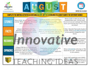 Year Long Writing Activities Calendar Teaching Resource