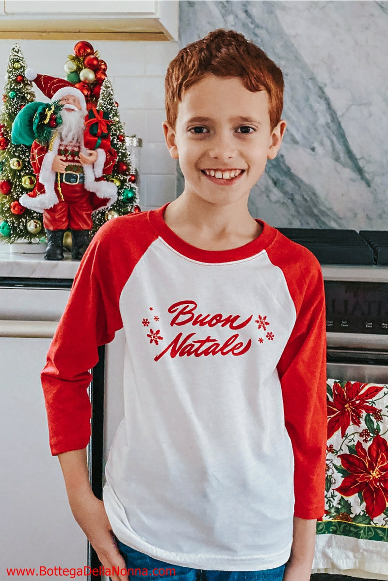 Buon Natale Raglan Shirt - Kids - Final Sale