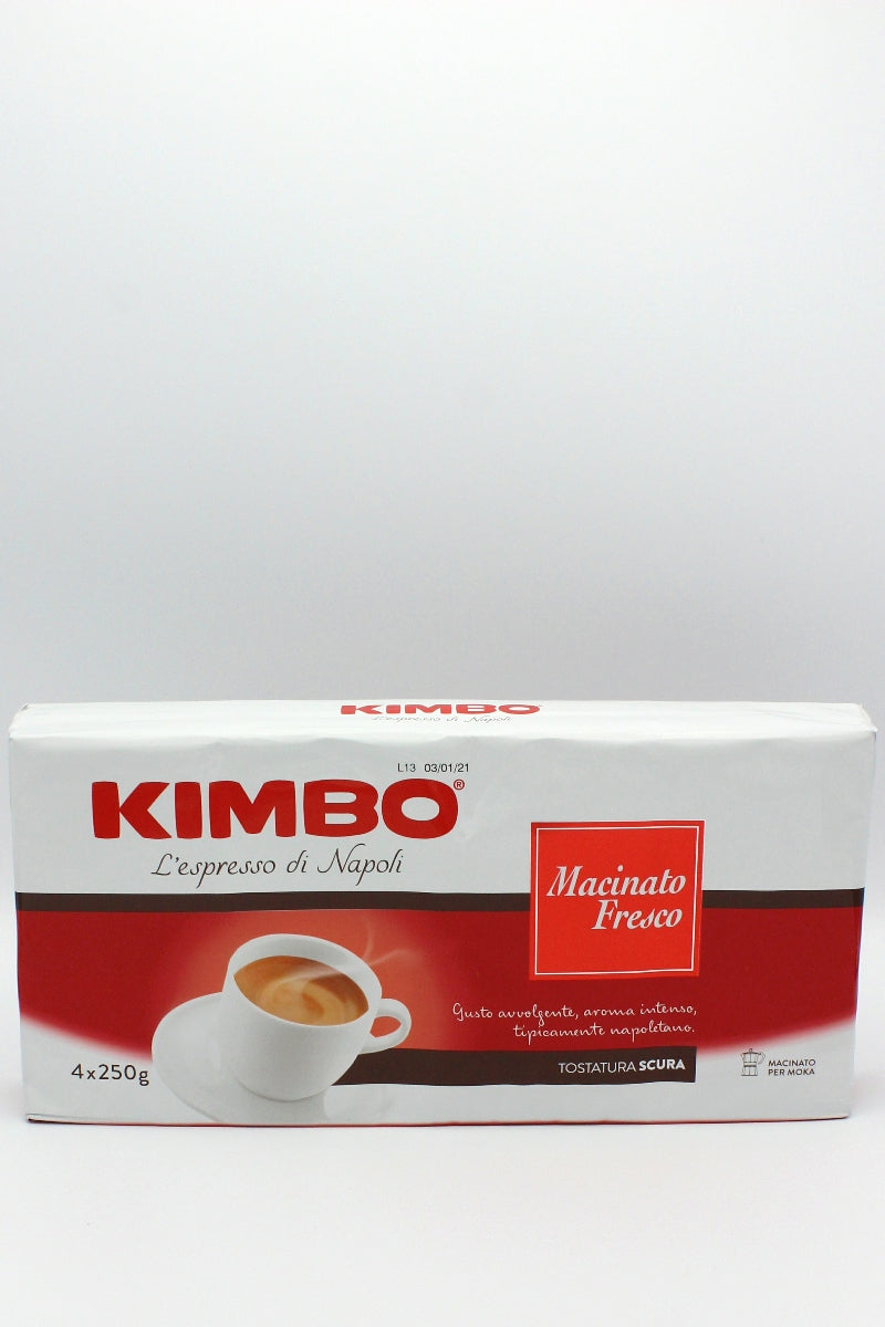 Kimbo - Macinato Fresco Espresso Coffee - 4 x 250 Packs
