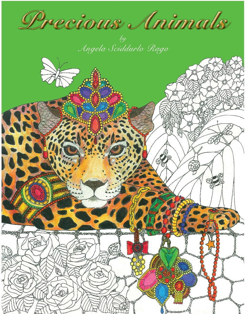 Precious Animals - Adult Coloring Book - With Dedication