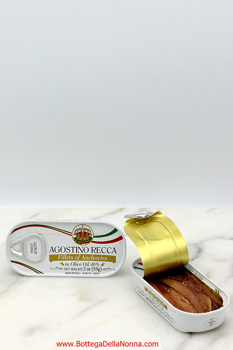 Fillets of Anchovies - Agostino Recca - 2 Tins