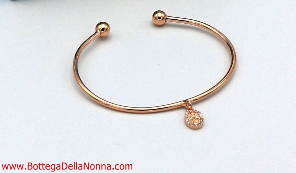 The Blessed Mother Bangle - Rose Gold
