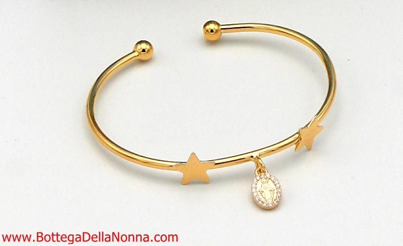 The Blessed Mother Star Bangle - Yellow Gold