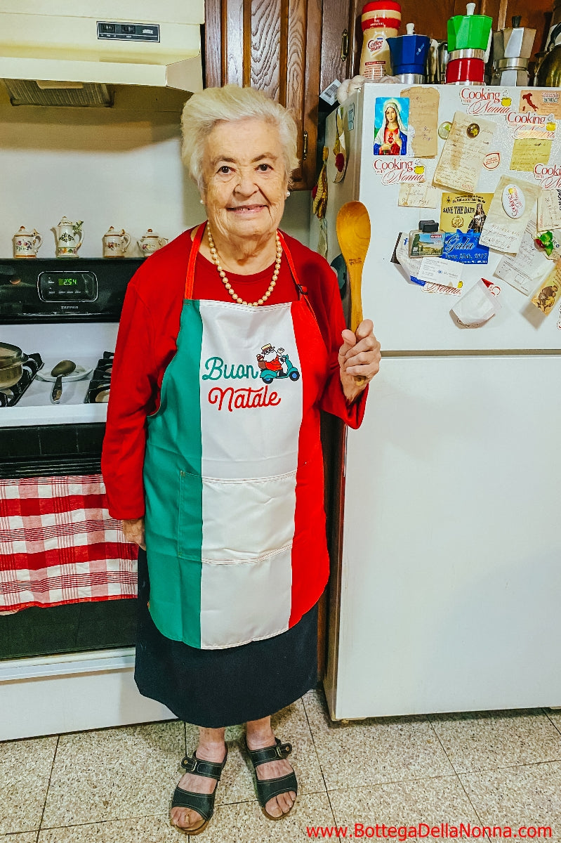 Buon Natale Italian Flag Apron - Final Sale