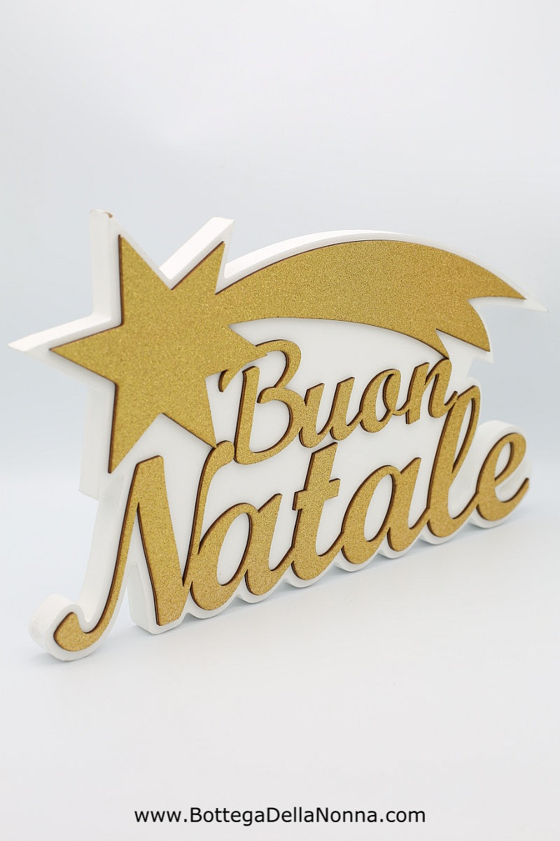 The Buon Natale Wooden Display