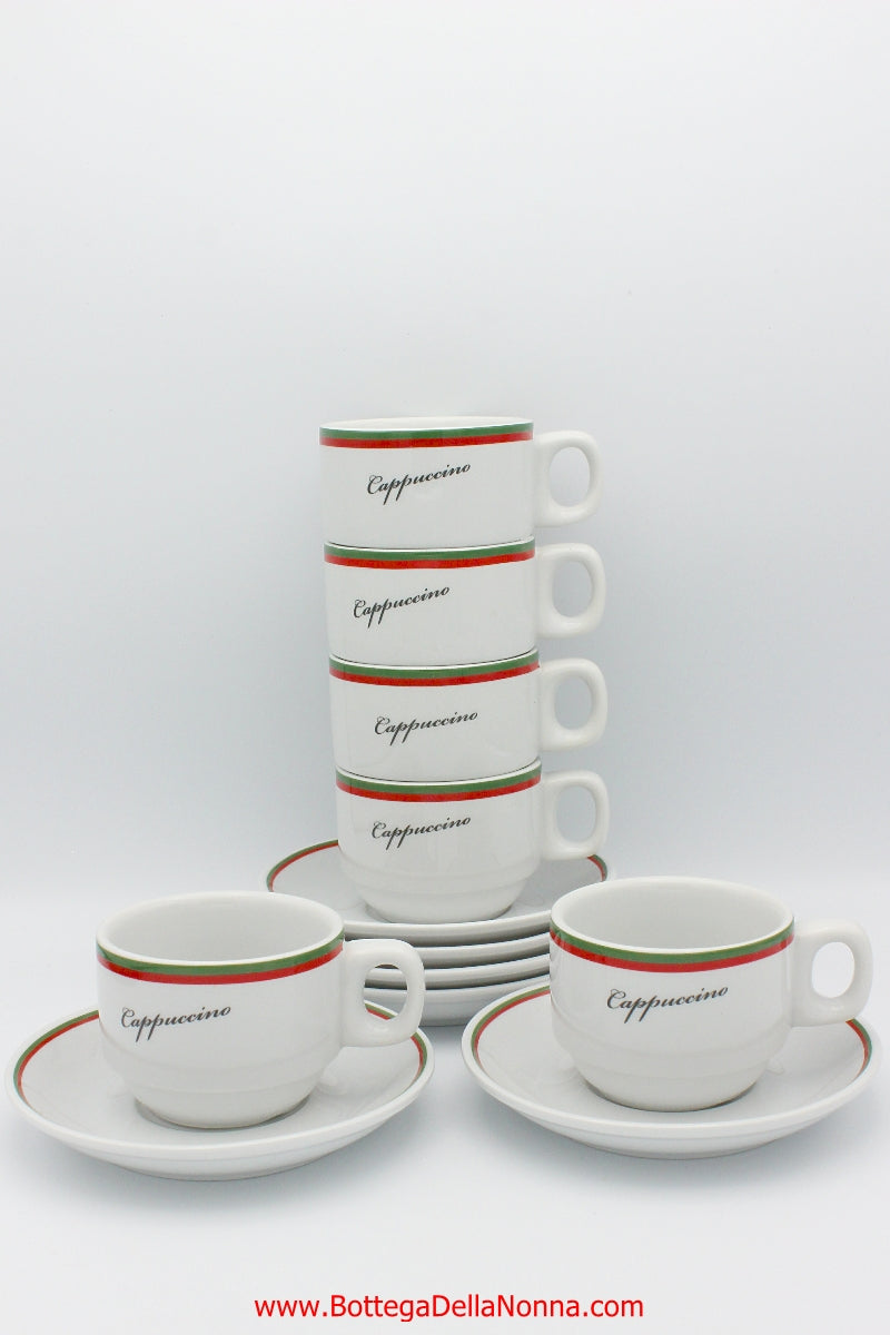 La Dolce Vita Cappuccino Cups - Set of 6 - Free Shipping