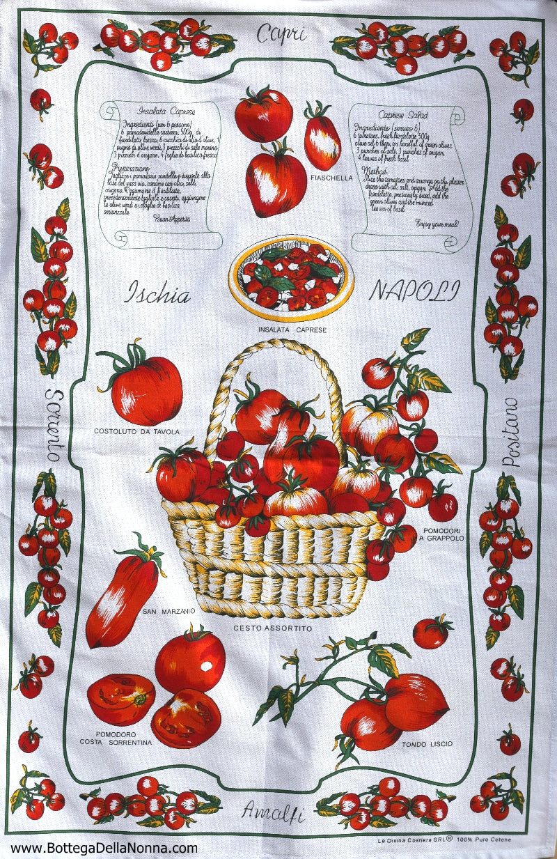 Caprese Salad - Dish Towel - Made in Italy