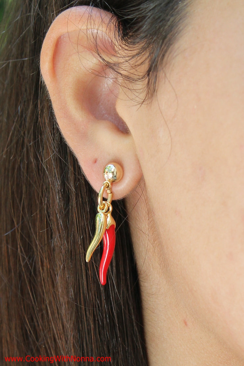 The Capri Cornicello Earrings - Yellow Gold