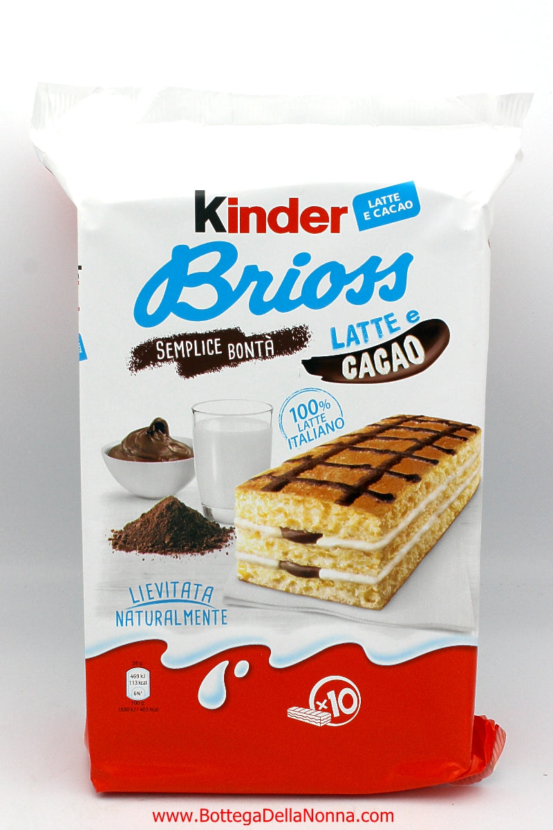 Kinder Brioss Latte Cacao - 10 Individual Packs
