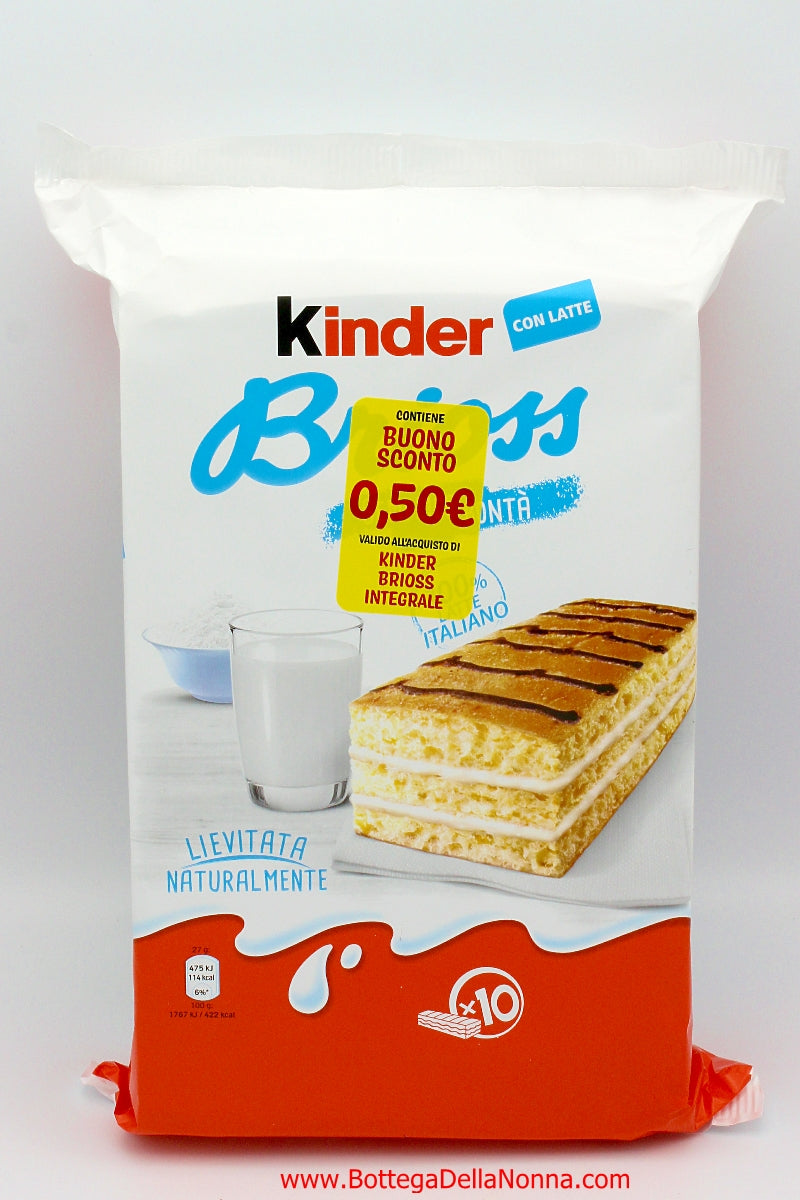 Kinder Brioss Latte - 10 Individual Packs