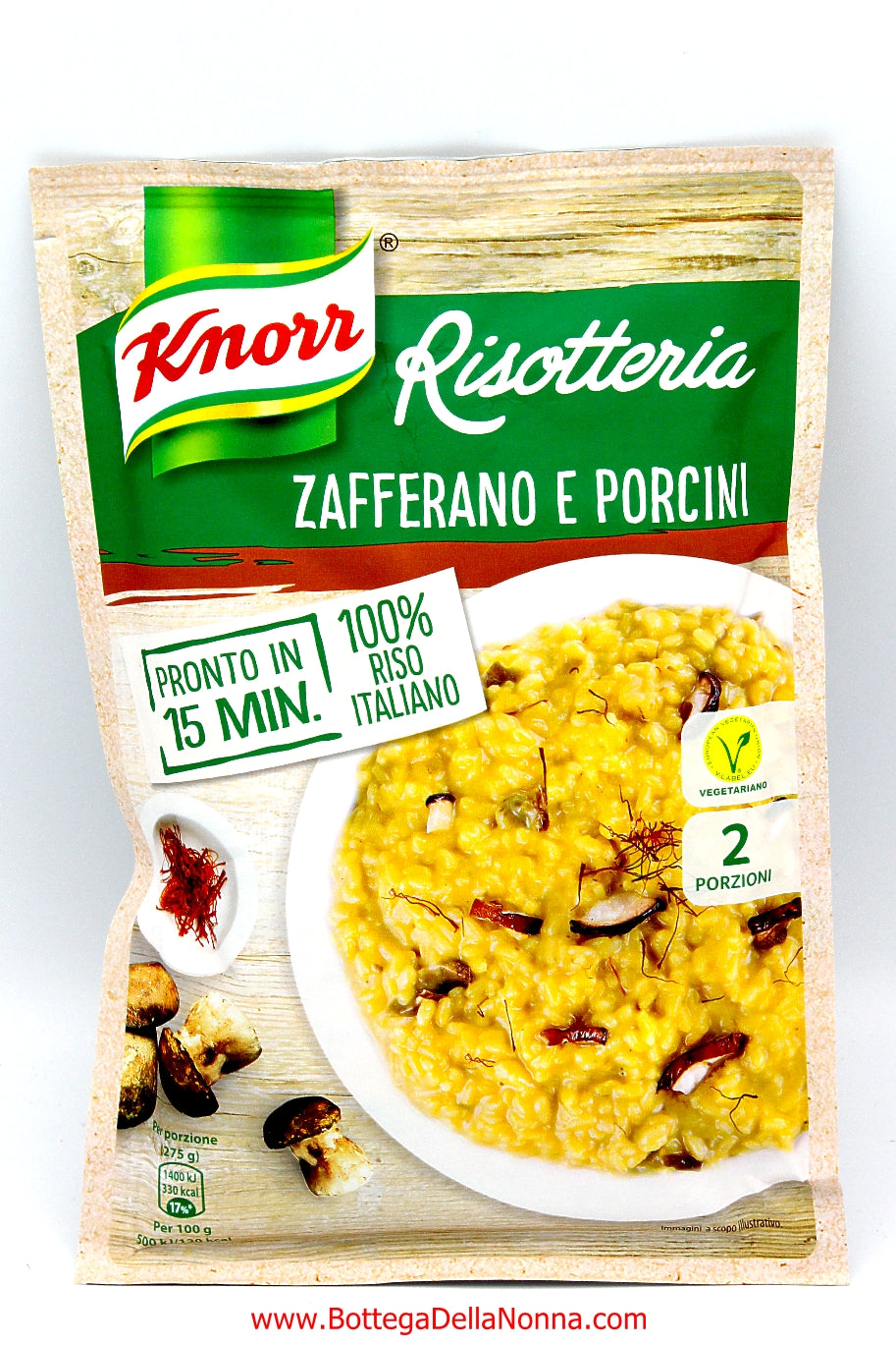 Knorr Risotto with Zafferano and Porcini Mushrooms