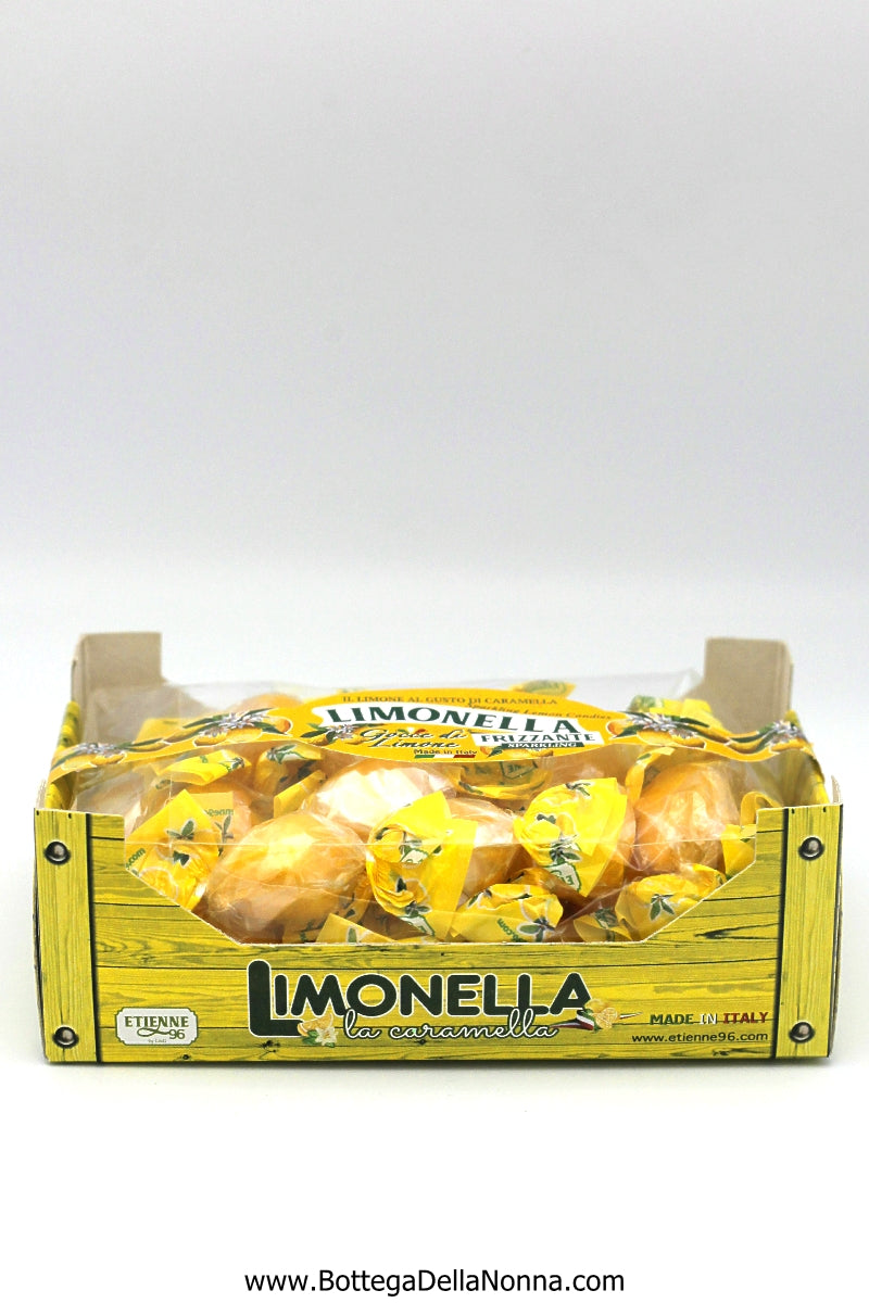 Limonella - Sparkling Lemon Candies in a Crate