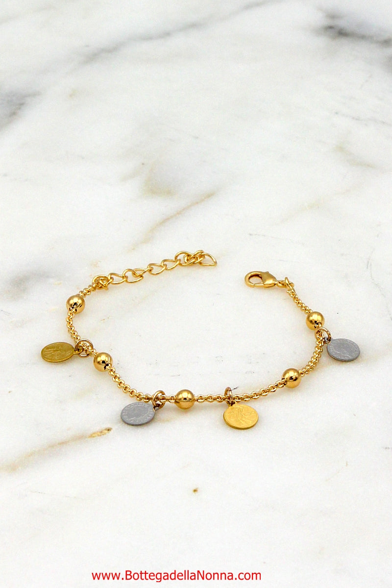 The Love-Lire Bracelet Bracelet. Yellow Gold Plated 18K