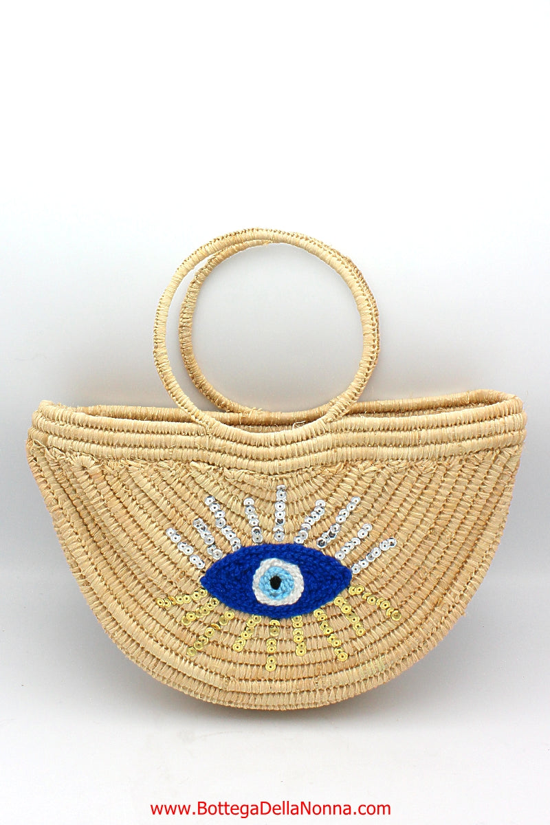The Malocchio Straw Handbag