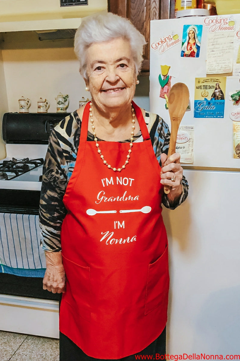 I'm not Grandma - I'm Nonna  Red Apron