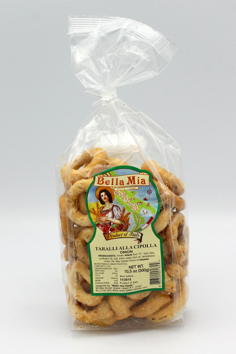 Onion Taralli from Puglia - Bella Mia